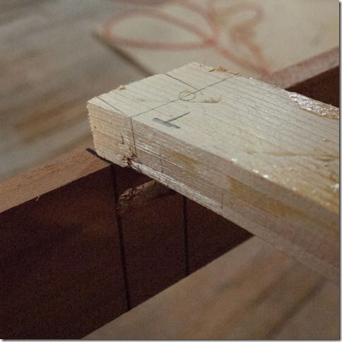 Tenon is marked out